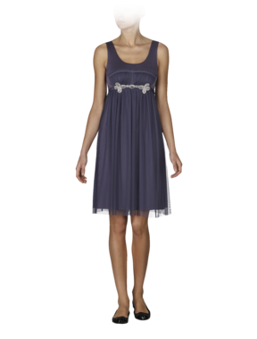 Emporio Armani Women's Dresses - Fall Winter - Emporio Armani Silk and Tulle Empire Dress - Official Online Store