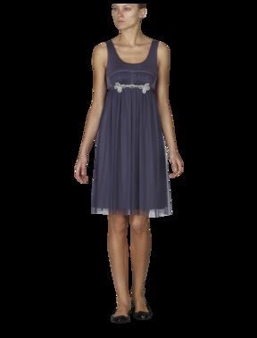 Emporio Armani Women's Dresses - Fall Winter - Emporio Armani Silk and Tulle Empire Dress - Official Online Store