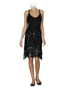 Emporio Armani Women's Dresses - Fall Winter - Emporio Armani Diamond Paillettes Dress - Official Online Store
