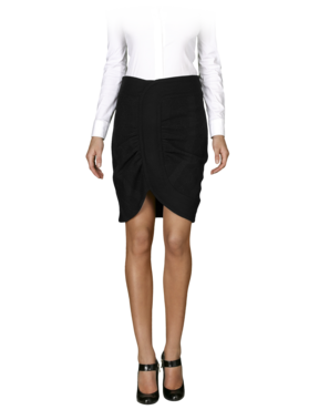 Emporio Armani Women's Skirts - Fall Winter - Emporio Armani Wool Ruched Skirt - Official Online Store