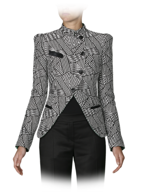 Emporio Armani Women's Jackets - Fall Winter - Emporio Armani Geometric Quilted Asymmetrical Jacket - Official Online Store