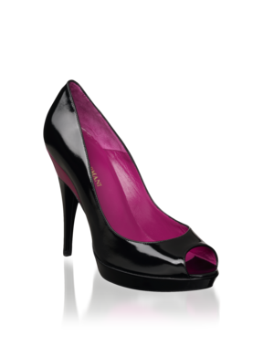 Emporio Armani Women's Shoes - Fall Winter - Emporio Armani Peep-toe Patent Pump - Official Online Store