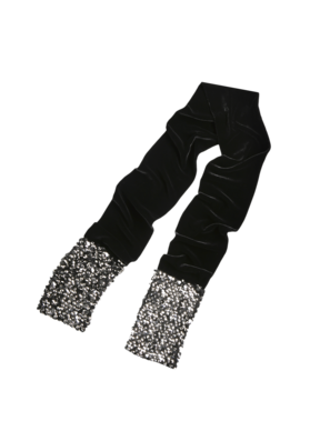 Emporio Armani Women's More accessories - Fall Winter - Emporio Armani Beaded Velvet Stole - Official Online Store