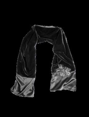 Emporio Armani Women's More accessories - Fall Winter - Emporio Armani Velvet and Satin Stole - Official Online Store