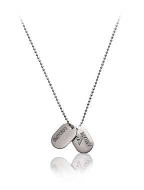 Emporio Armani Men's Jewelry - Spring Summer - Emporio Armani Double dog-tag necklace - Official Online Store